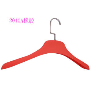 Red Logo Printed Rubber Coating Hanger for Women Clothes pictures & photos