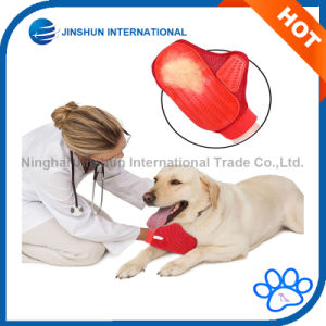 Pet Two-Sided Grooming Massage Glove for Dog&Cat Deshedding Brush with Rubber pictures & photos