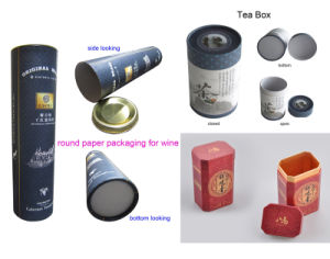 Gift Paper Tube Tea Packaging Box pictures & photos