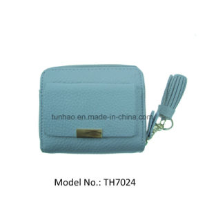 Mini Multifunction Zip Around Lady Wallets with Front Snap Pocket
