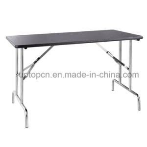 Rectangle 201 Stainless Steel Office Table with Melamine Desktop (SP-FT312) pictures & photos