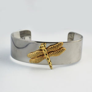 China Manufacturer Stainless Steel Gold Simple Womens Cuff Bracelet Jewelry pictures & photos