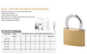 Dual Line Imitate Brass Atom Padlock Factory Price Good Quality pictures & photos