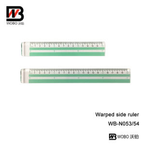 Color Plastic Stationery Ruler with Handle