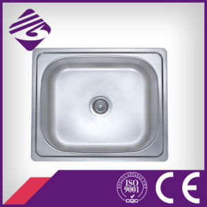 Jnm92s518 Squre Stainless Steel 304 Single Bowl Water Sink 610*510*220mm
