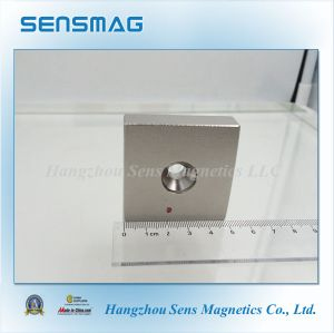 Manufacture Powerful N35~N55 Permanent NdFeB Magnet with One Hole pictures & photos