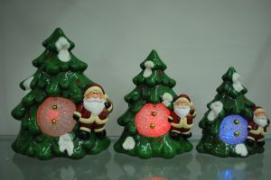 Xmas Resin Craft Candle Holder for Home Decor