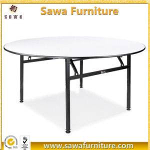Wholesale Wooden Folding Round Banquet 6FT Folding Table pictures & photos
