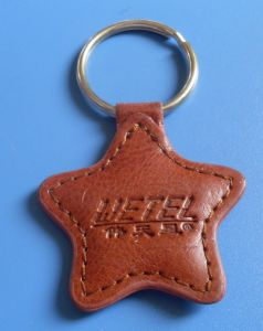 Hot Promotional Leather Star Keychain
