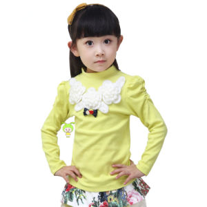 Top Sale High Necked Baby Girls T Shirt Wholesale China Tya Kt