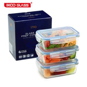 China Air Tight Premium Glass Meal Prep Food Storage Container with