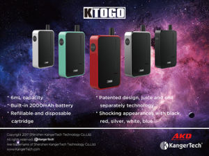 Kangertech Latest K-Togo 2000mAh Full Wattage 6ml Kit