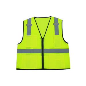 100% Polyester Mesh Reflective Safety Vest with ANSI/Isea