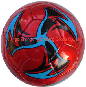 Machine Stitched with 32panels Laser PVC Soccer Ball (SM5257) pictures & photos