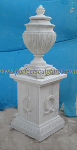 Stone Marble Flower Vase for Garden Ornament (QFP305) pictures & photos