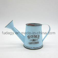 Round Metal Watering Can in Blue