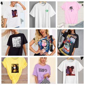 Summer 3D Digital Printed Short-Sleeved T-Shirts for Women