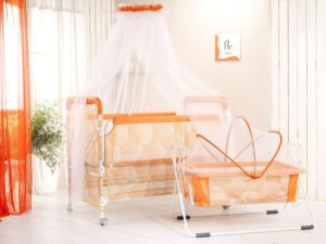 China Baby Collapsible Crib With Cradle Zdc C China
