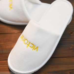 Disposable Slippers/One-Time/Hotel/Family/Travel/White/No Word/Sulbactam Soft/Flax White Hotel Babouche Travel Guesthouse pictures & photos