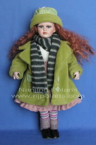 "20"" Porcelain Country Doll (D466)"
