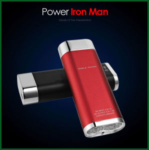 5200mAh Factory OEM Portable Aluminium Mobile Power Bank with Strong LED Light