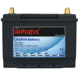 Improve 36V 40A 60A 80A 100A 120A LiFePO4 Lithium Ion Storage Battery Deep Cycle Built BMS Solar Battery System Boat