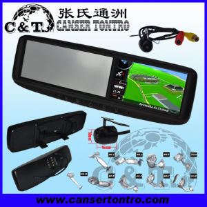 "4.3"" Car Rear View Mirror GPS LCD Monitor With Camera Kit (RVGSCDV)"