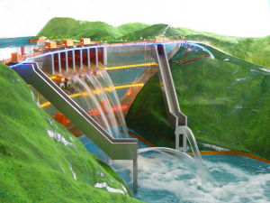 Hydro Dam and Pivot Model, Industrial Model Making, 3D Model Industrial, Demonstrational Model