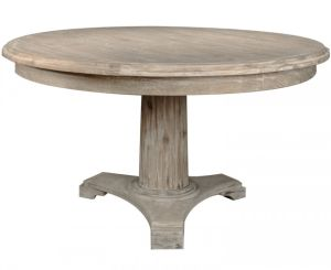 Kvj-Rr07 Rustic Big Round Old Wood Antique Coastal Dining Table