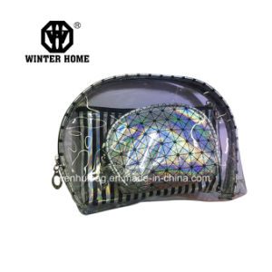 Fashion Clear PVC Stripes Pach Sets Cosmetic Bag pictures & photos