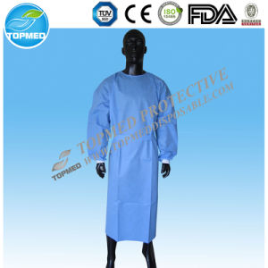 Knitted Cuffs Operating Gown, Surgical Gown for Hospital/Medical pictures & photos