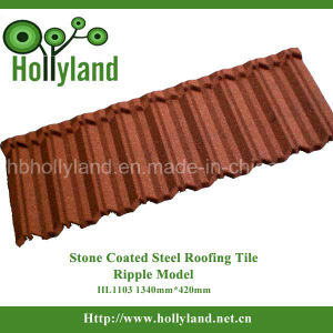 Light Weight Colorful Stone Coated Metal Roof Tile (Ripple Type) pictures & photos