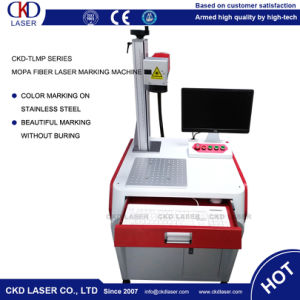 High Quality Mopa Laser Marking Machine Marking on Metal Color pictures & photos