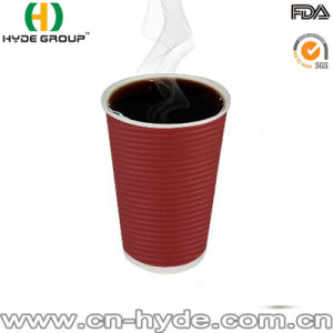 Printed Ripple Paper Insulated Coffee Cups pictures & photos