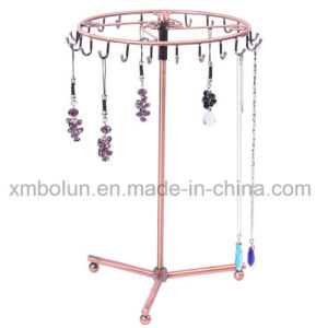 Rotatable Free Stand Metal Wholesale jewelry Display Stand