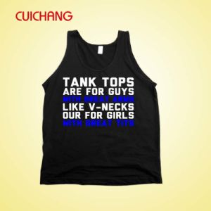 Wholesale Costom Design Cotton Silk Screen Sports Wear Women Gym Singlet Tank Top