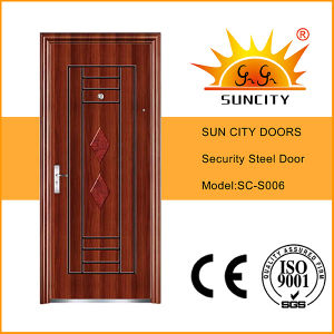 Single Designs Safety Hot Exterior Steel Iron Door (SC-S006) pictures & photos