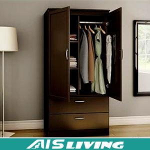 China 2 Door Steel Bedroom Wardrobe Cabinet With Inside Drawer Design Ais W457 Closet Storage
