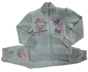 High Quality Fleece Children Sweater with Embroidery in Children Clothes for Sport Suits Swg-101