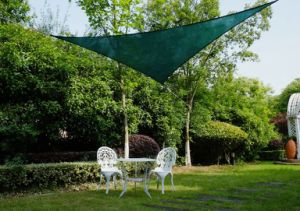Green Color HDPE Garden Sun Shade Sail, Outdoor Canopy Patio Lawn Triangle (Manufacturer)