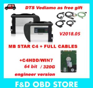 MB Star C4 with V2018 05 Version HDD Xentry Compact 4 Dts Das Mercedes  Diagnosis Multiplexer for Benz Diagnose DHL Free Shipping