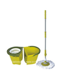 Hand Press Spin Mop with Detachable Plastic Basket Bucket (SL-S022)