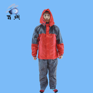 Hot Selling Adult Waterproof Hodded Raincoat pictures & photos