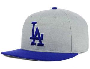 Flat Peak Adjustable Snapback Cap Leather Hat