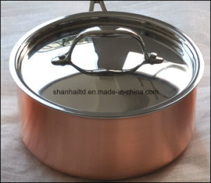 3ply Copper Sauce Pan Cookware pictures & photos