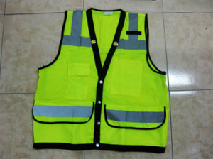 High Visibility Vest Bulletproof Reflective Workwear Safety Vest pictures & photos