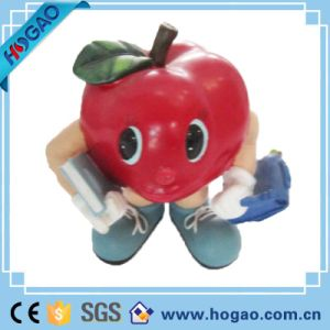 Resin Xmas Figurine Red Apple for Table Decoration pictures & photos