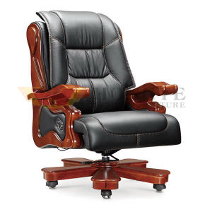 Office Classic Leather Executive Wooden Chair (HY-NNH-A9) pictures & photos