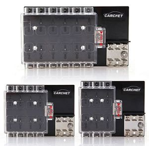 8-Way Block Holder Circuit Fuse Box with Cover for Auto Vehicle Car Truck pictures & photos