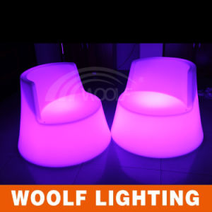 Remote Control LED Bar High Back Chairs